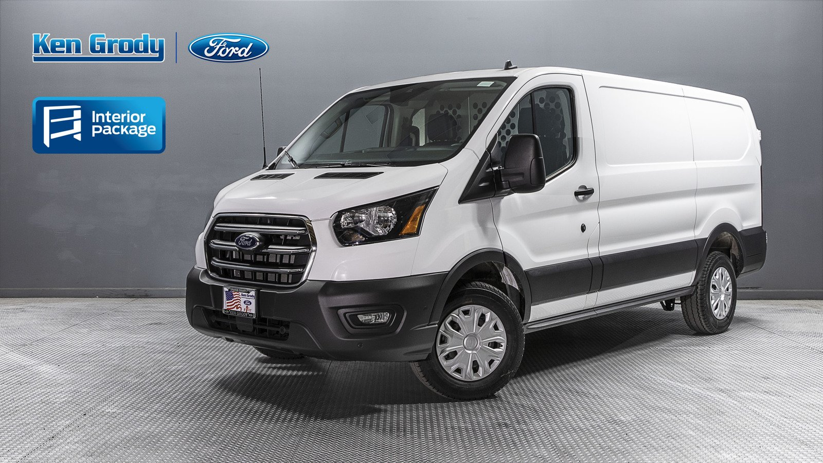 New 2020 Ford Transit Cargo Van With Aluminum Shelves