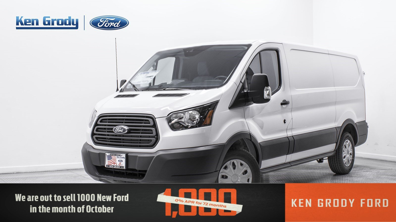 New 2018 Ford Transit Van XL Minivan Cargo in Buena Park 90258